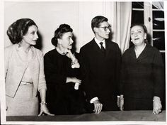 1958 - Mitzah Bricard Marguerite Carré Yves Saint Laurent Raymonde Zenacker at Dior