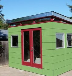 modern shed/office space Building Structure, Building Materials, Shed Office, Outdoor Landscaping, Outdoor Decor, Modern Shed, Backyard Sheds, Happy Life, Garden Ideas