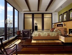 Apartment in the Sky by The Taylor and Taylor Partnership #bedroom #view