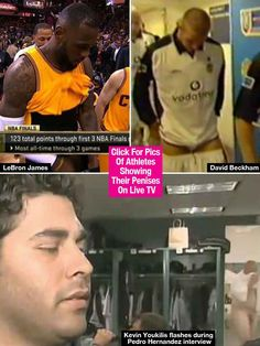 LeBron James: 5 Times Athletes Showed Their Penises On Live TV LeBron James flash  #LeBronJamesflash