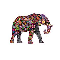 Floral Daisy Elephant Decal Made In The USA With High
