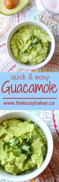 The Busy Baker: Easy Guacamole