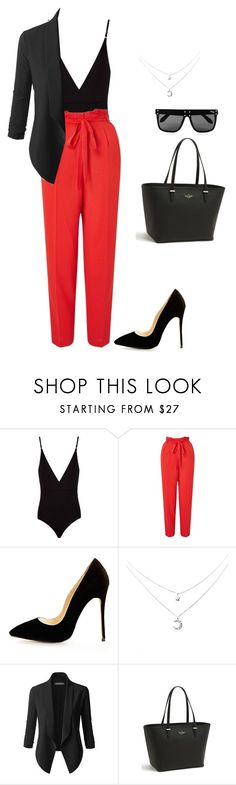 """""""Untitled #114"""" by morgancheer28 ❤ liked on Polyvore featuring Osklen, Miss Selfridge, LE3NO, Kate Spade and Quay"""