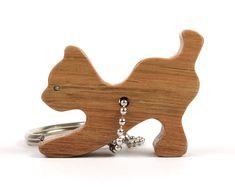 4f4575ebd9c Cat Key Chain, Wood Scroll Saw Outline Animal Keychain, Kitty Silhouette  Cat Key Ring, Pet Key Chain, Cat Key Fob, Maple