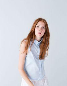 Bershka España - Camisa Bershka sin mangas