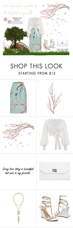 """""""my fairy tale world"""" by aurorainparadise ❤ liked on Polyvore featuring Pier 1 Imports, Zimmermann, Boohoo, Kendra Scott, Venus, Palm Beach Jewelry, white, mint and WhatToWear"""