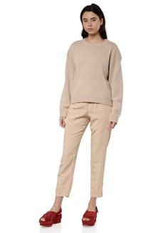 Filippa K - Maya Sweater in Beige – gravitypope Maya, Hemline, Cashmere, Khaki Pants, Normcore, Collections, Beige, Long Sleeve, Sleeves
