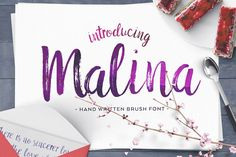 Malina Brush Font from FontBundles.net