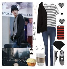 """""""#381: VIXX - Hyde (Leo)"""" by exoo ❤ liked on Polyvore featuring George, Zara, Vans, Talli, Isaac Mizrahi, Blue Nile and Accessorize"""