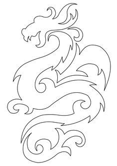 рисунки японских драконов