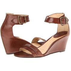 $116.10 Frye Carol Seam (Redwood Smooth Full Grain) Women's Wedge Shoes
