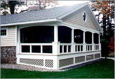 Beautiful porch design.    L-shaped Ranch Homes