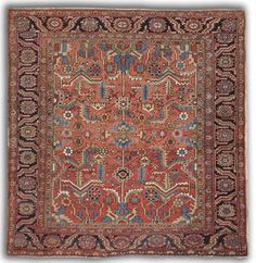 Lot 38 Antique Heriz carpet