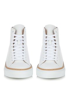 Mulberry high-top leather trainers