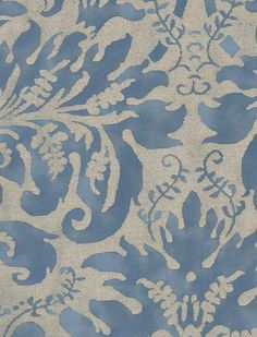 Fortuny Sevres in brilliant blue & silvery gold