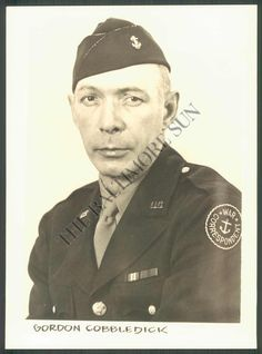 Author and Cleveland sports writer Gordon Cobbledick during his years or service in WW2.  In 1966, he and Colavito would collaborate on Rocky's biography, Don't Knock the Rock!, published by World.