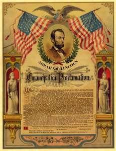 ... LINCOLN CIVIL WAR POSTER EMANCIPATION PROCLAMATION PARCHMENT PRINT 100