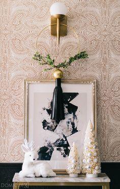 DIY Tasseled Christmas Wreath | DIY Tassel | Macrame ring wreath | Christmas decor | Edgy decor | Everyday wreath | fabric tassel | leather tassel | Simple Christmas DIY | Christmas Decor
