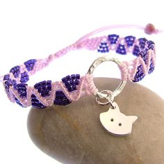 Micro Macrame Bracelet with Sterling Silver by JewelleryFurKeeps, £25.00