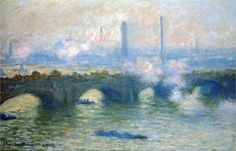 """Waterloo Bridge, London"" ・ by Artist: Claude Monet ・ Completion Date: 1903 ・ Style: Impressionism ・ Series: Waterloo Bridge ・ Genre: cityscape ・ Oil on Canvas Claude Monet, Manet, Monet Paintings, Landscape Paintings, Artist Monet, Waterloo Bridge, Most Famous Paintings, Pierre Auguste Renoir, Impressionist Paintings"