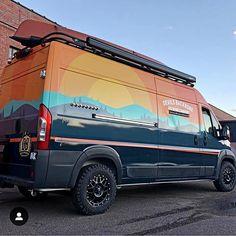 ProMaster van with Aluminess roof rack, awesome wrap, and custom interior to accommodate an eight tap… Sprinter Van Conversion, Camper Conversion, Ambulance, Camper Trailers, Camper Van, Vw T5 Campervan, Van Car, Van Home, Van Design