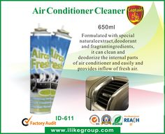 Air-Conditioner-Cleaner-ID-611-home care and house cleaning products supplier-i-Like Fine Chemical``Formulated with special natural extract, deodorant and fragrant ingredients, it can clean and deodorize the internal parts of air conditioner and easily and provides inflow of fresh air.. It is non-flammable, non-corrosive and non-toxic.