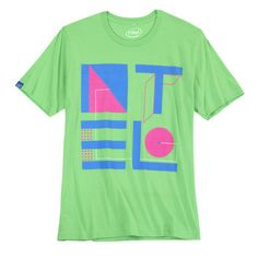 Retro Intel T-shirt in neon colors that will keep people talking with this bright, fun t-shirt.