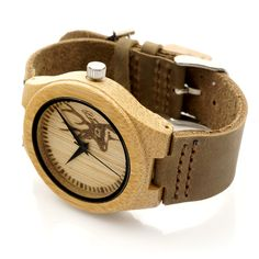 2016 Deer Head Design Mens Women's Size Bamboo Wooden Watches Luxury Wooden Quartz Watches With Brown Leather Strap Check it out!  #shop #beauty #Woman's fashion #Products #Watch