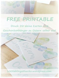 DIY // BASTELN // OSTERN // KOSTENLOS // FREEBIE // FREE PRINTABLE Place Cards, Place Card Holders, Free, Paper, Inkjet Printer, Advertising Ads, Round Round, Gifts