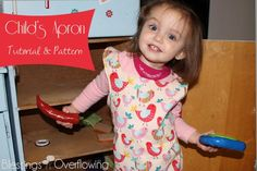 Child's Apron Tutorial & Pattern