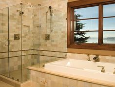 """https://www.pioneer.glass/services/shower-enclosures/ We are experienced installers of glass for showers and tubs and can answer your burning questions. We've created beautiful enclosures across many different styles and budgets. """"I don't know"""" is not in our vocabulary."""