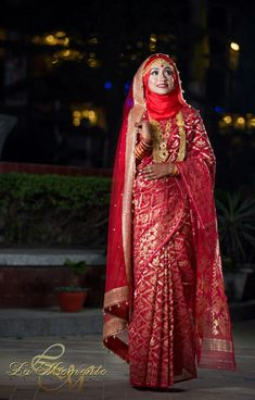 Hijabi Wedding, Muslimah Wedding Dress, Hijab Style Dress, Muslim Wedding Dresses, Hijab Bride, Pakistani Bridal Dresses, Indian Dresses, Indian Muslim Bride, Bengali Bride