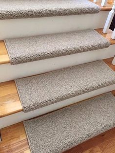 Tweed Linen Taupe Ecco Tex Blend New Zealand Wool TRUE Bullnose™ Carpet Stair Tread Runner Replacement for Style, Comfort&Safety (Sold Each) Hallway Carpet Runners, Cheap Carpet Runners, Stair Runners, Hall Carpet, Carpet Stairs, Bullnose Carpet Stair Treads, Carpet Brands, Flooring Near Me, Carpets Online