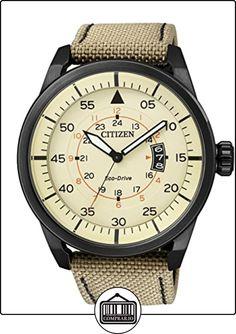 Citizen  AW1365-19P - Reloj de cuarzo para hombre, con correa de cuero, color beige de  ✿ Relojes para hombre - (Gama media/alta) ✿