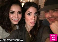 Nina Dobrev Puts Feud Rumors To Rest & Poses With Ex Ian Somerhalder & Nikki Reed: Pic