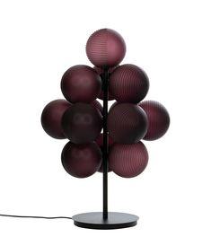Stellar Grape lamp by Sebastian Herkner for Pulpo at Maison & Objet 2019 Lamp Design, Lighting Design, Sebastian Herkner, Tall Lamps, Tiffany Lamps, Unique Lamps, Bedroom Lamps, Light Table, Hand Blown Glass
