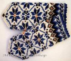 Hand knitted mittens Wool mittens Warm mittens Wool winter gloves Blue stars and floral ornament on a white background Patterned mittens Blue Mittens, Knit Mittens, Knitting Socks, Hand Knitting, Knitting Patterns, Knitting Wool, Blue Gloves, Wool Gloves, Knitted Gloves