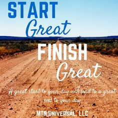 START GREAT FINISH GREAT