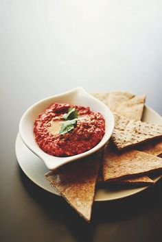 Muhammara #recipe from Une Deux Senses #appetizer; armenian + middle eastern food  This stuff is addictive. That place on Broadway has it and I swear I can eat the whole thing.