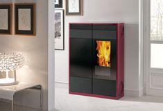 Pellet heating stove / contemporary / steel KELLY EDILKAMIN