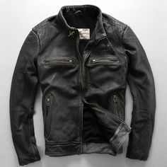 Mens leather jackets.  Leather jackets certainly are a very important component to every single man's set of clothes. Men need to have outdoor jackets for a number of occasions as well as some climate conditions Men's Leather Jacket, Leather Men, Leather Coats, Leather Jackets, Black Leather, Vintage Leather, Riders Jacket, Motorcycle Jacket, Jacket Men