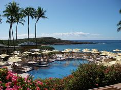 One of those chairs has my name on it! Four Seasons Pool Lanai by Go Visit Hawaii, via Flickr #Hawaii