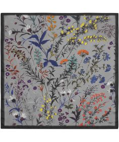 liberty- What a great idea- framed beautiful scarfs