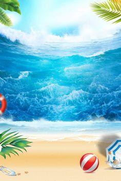 Cool summer beach banner, great, beach, cool background image for Summer Background Images, Plant Background, Creative Background, Summer Backgrounds, Landscape Background, Cool Backgrounds, Beach Images, Beach Pictures, Beach Fun