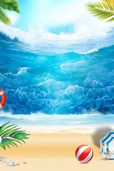Beautiful summer beach beach