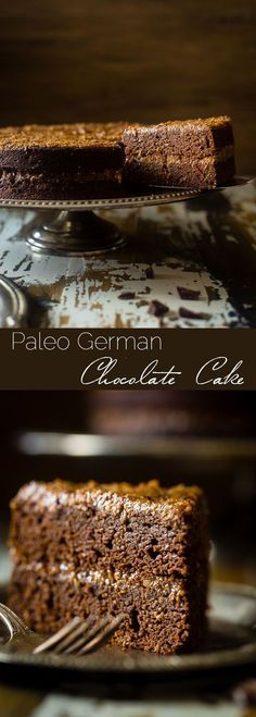 Paleo German Chocolate Cake - You'd never know this rich, moist German Chocolate Cake is a healthy remake that is paleo friendly and gluten, grain, oil, butter and refined sugar free! | Foodfaithfitness.com | /FoodFaithFit/