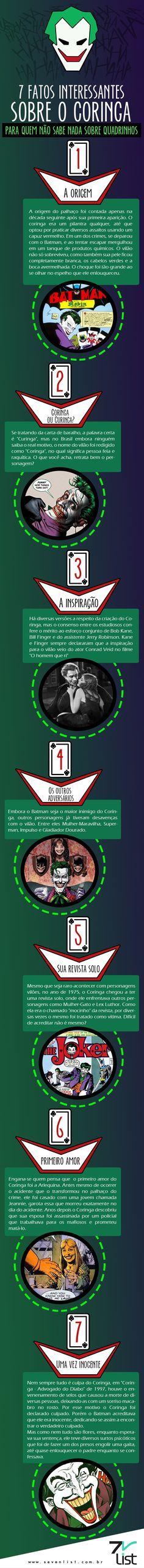 #Infográfico #Art #Design #DC #Comics #DCComics #Coringa #Joker #HD #Quadrinhos #Fatos #Entretenimento #Film #Cinema