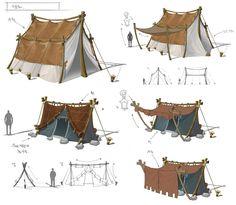 Pin by Toysoul Peng on Environment & Scene _環境 & 場景 Landscape Concept, Fantasy Landscape, Environment Concept Art, Environment Design, Prop Design, Game Design, Tent Design, Tent Drawing, Larp
