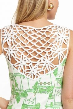 love the detailed back!  Lilly Pulitzer Lacina Dress in Just Add Mint