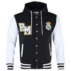 Chaqueta de Baseball con capucha Real Madrid - Negra 3c2cd73874148